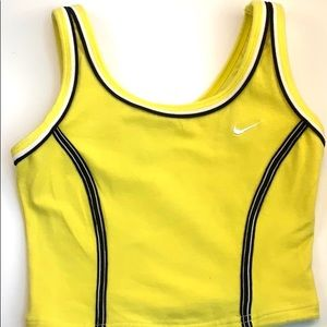 Nike yellow cropped top. Medium size 8-10 youth.